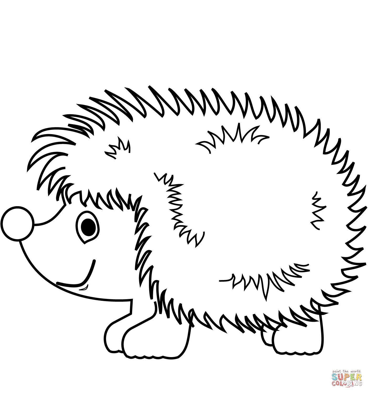 Cute Hedgehog Coloring Page