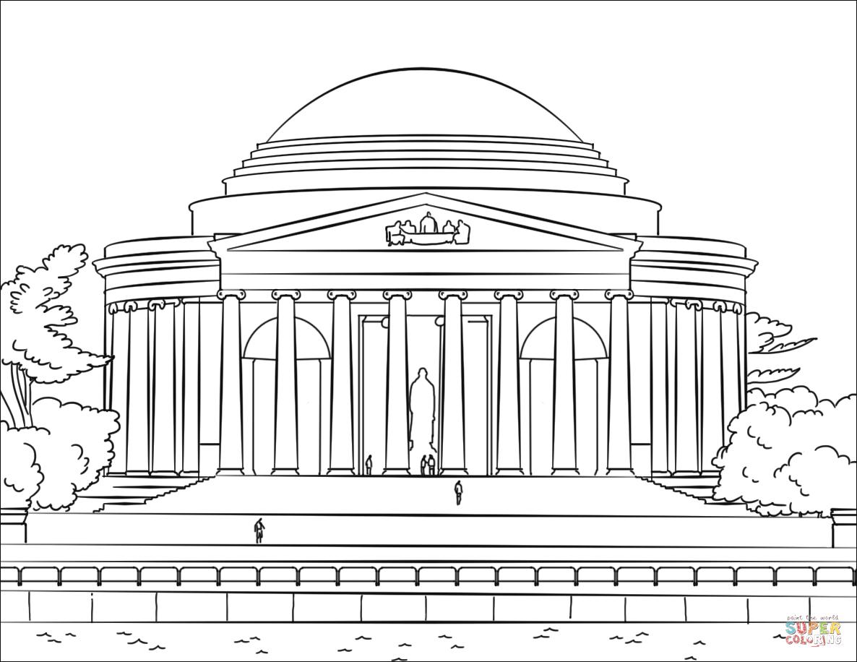 Jefferson Memorial Coloring Page