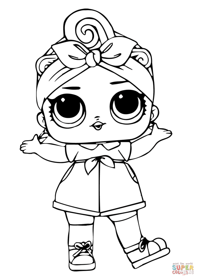 Can Do Baby LOL Surprise Doll coloring page  Free Printable