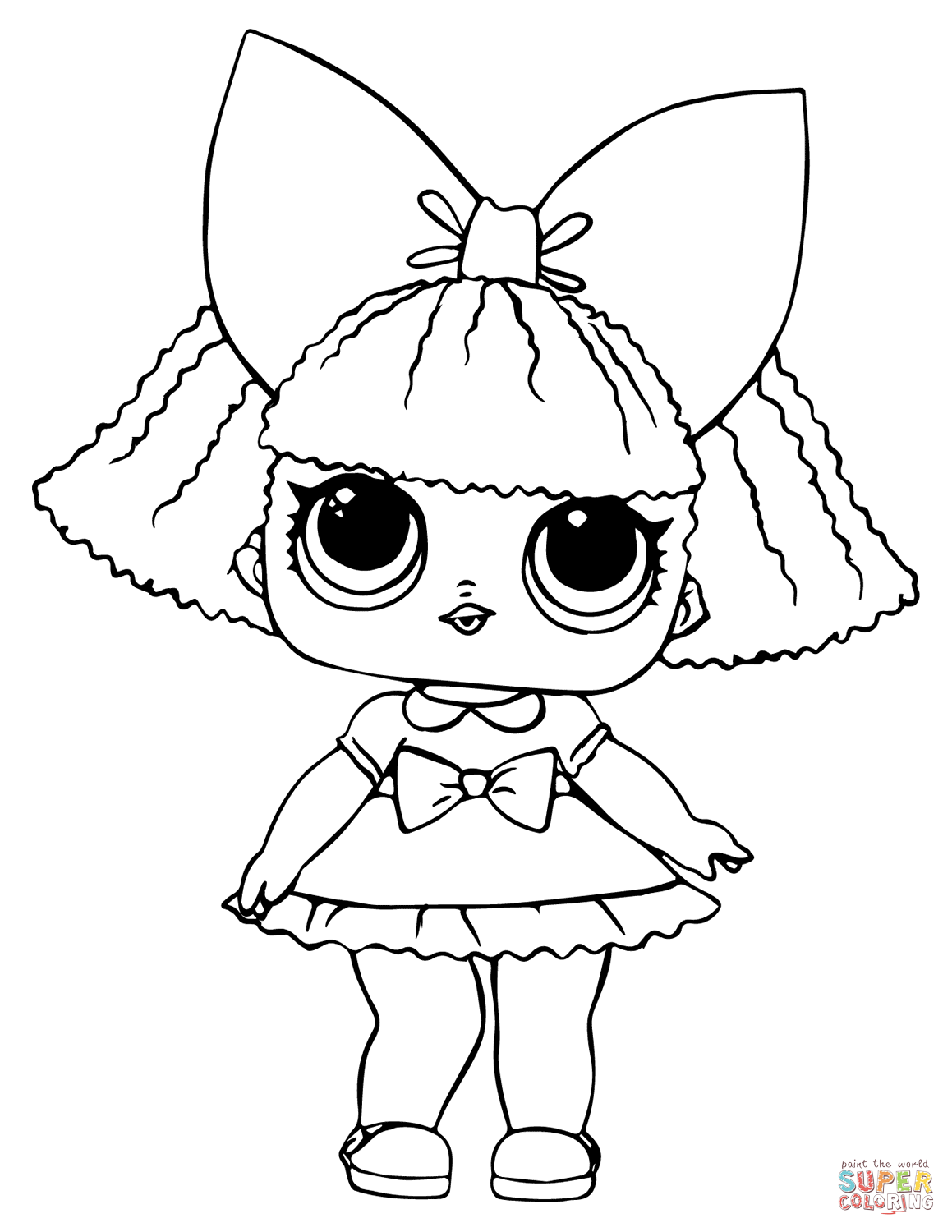 Lol Doll Glitter Queen Coloring Page Free Printable Coloring Pages