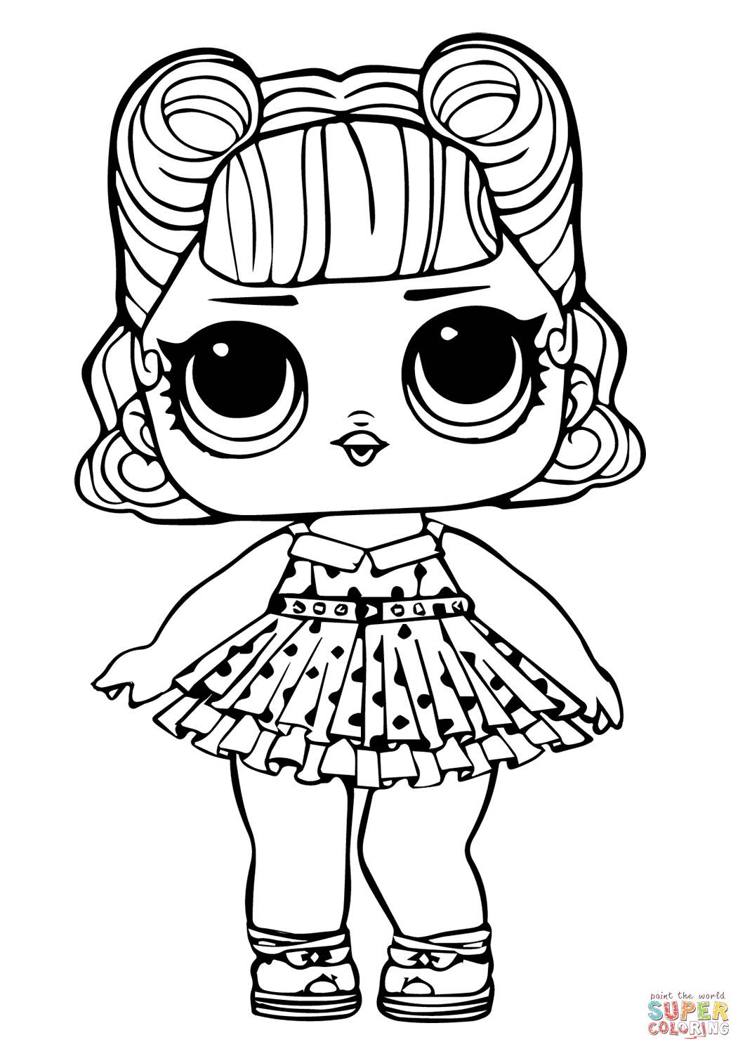 Lol Doll Jitterbug Coloring Page Free Printable Coloring Pages