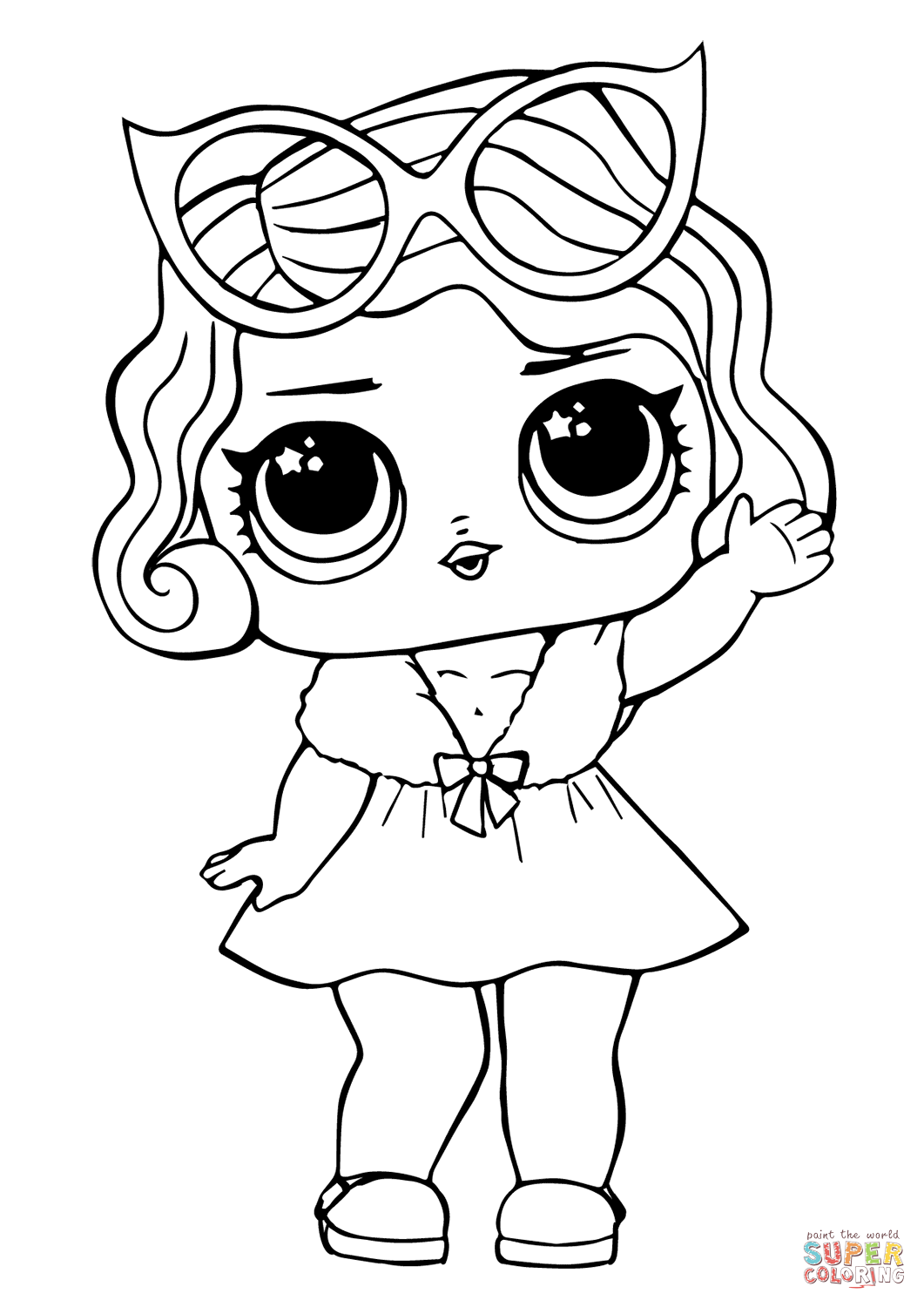 Lol Doll Leading Baby Coloring Page