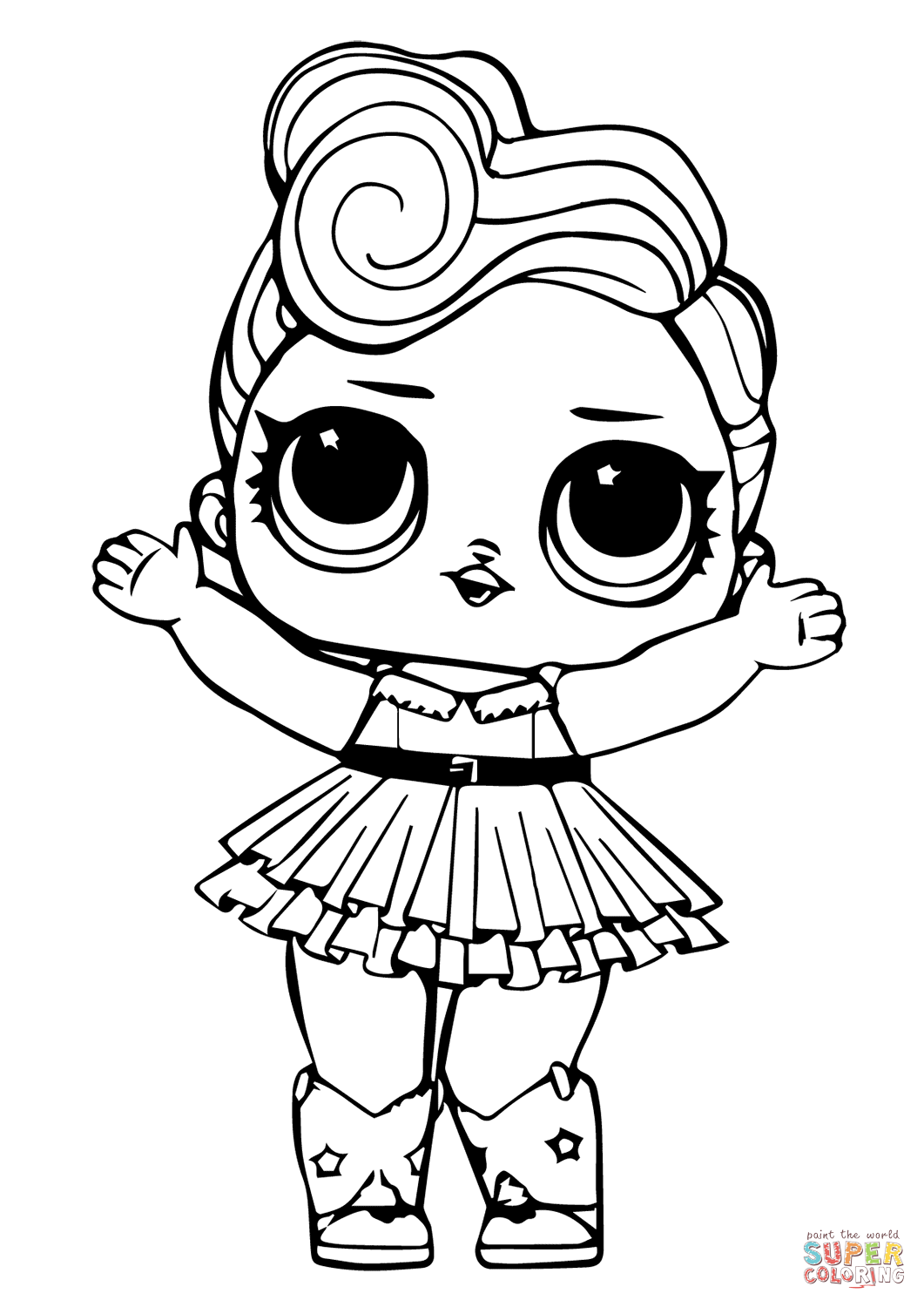 Amazing Lol Coloring Pages Lil Queen And Lil Sugar Queen Free