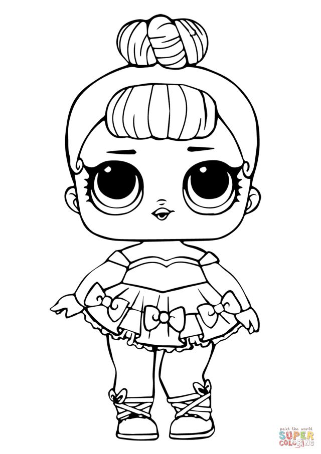 LOL Doll Miss Baby Glitter coloring page  Free Printable Coloring