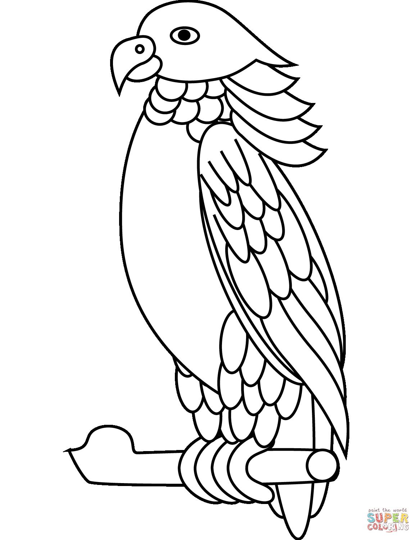 Dibujo De Loro Imperial Para Colorear
