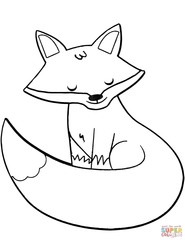 Cartoon Fox coloring page  Free Printable Coloring Pages