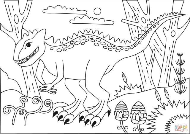 Carnotaurus coloring page  Free Printable Coloring Pages