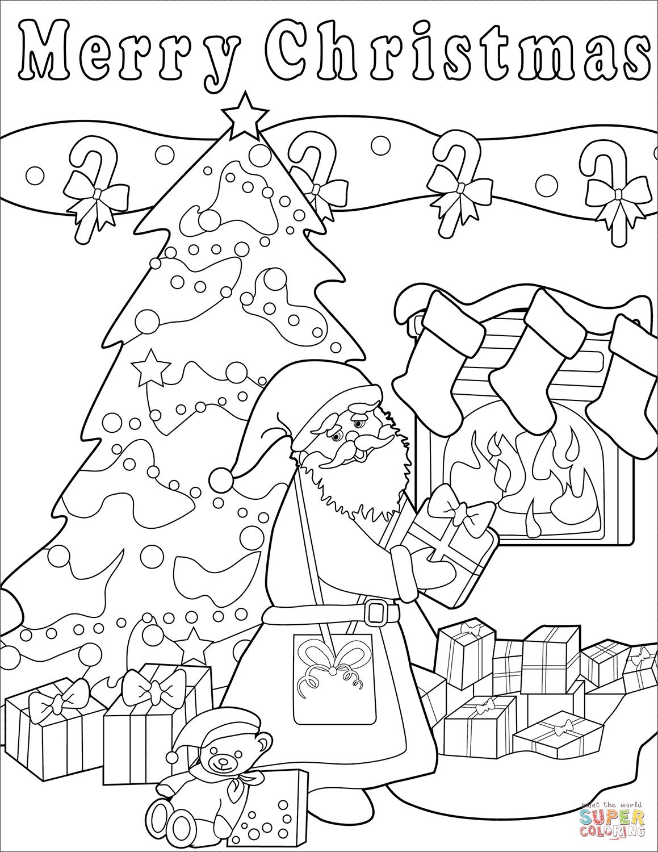 Merry Christmas Printable Coloring Sheets Christmas