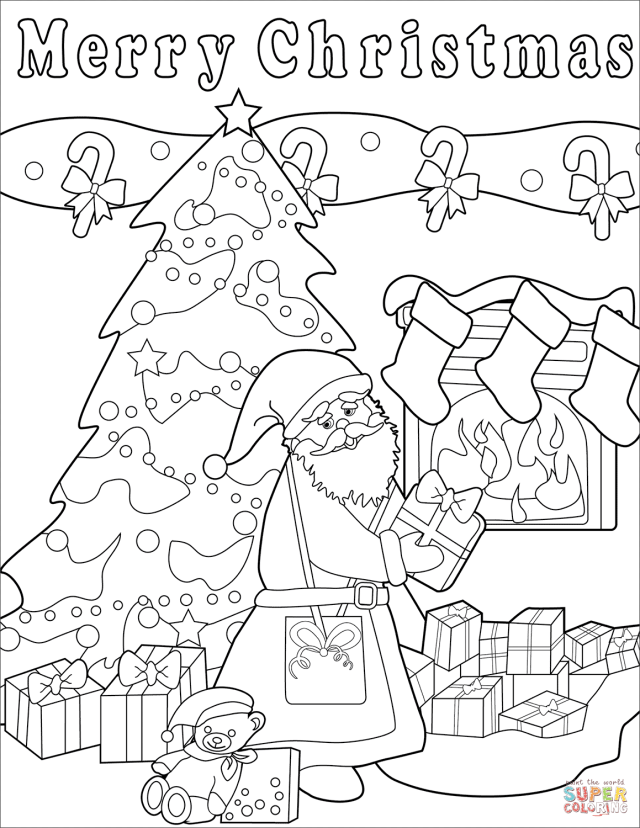 Merry Christmas coloring page  Free Printable Coloring Pages