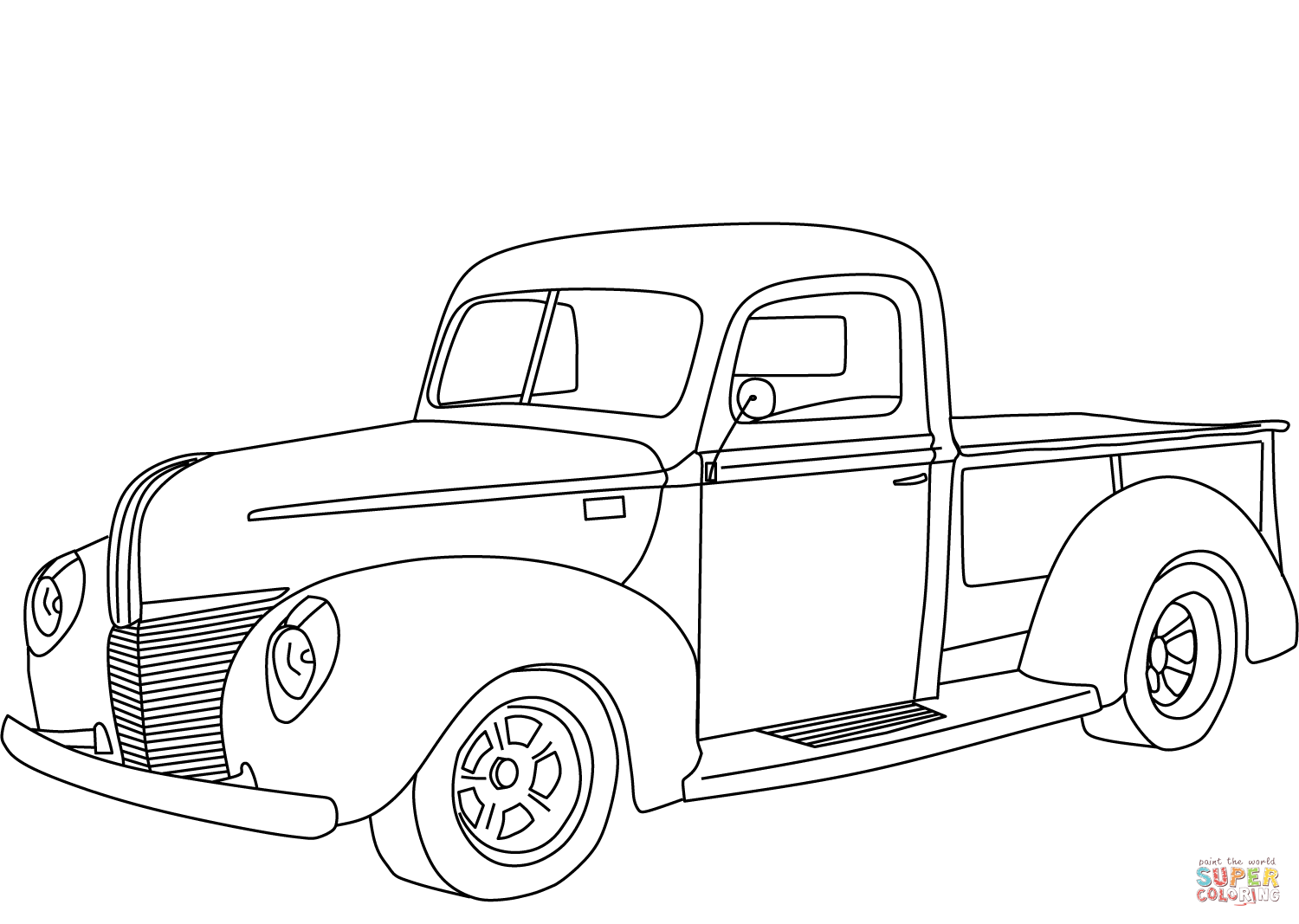 Ford Pickup Coloring Page