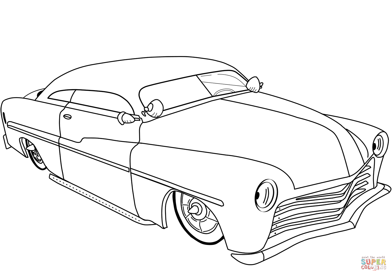 Coloring Pages Race Cars Coloring Page