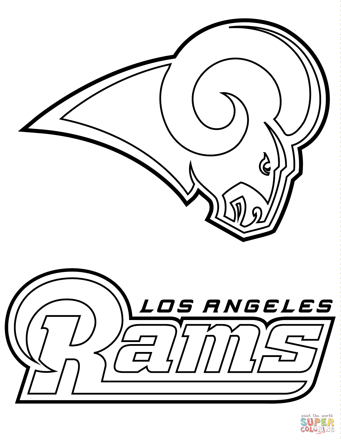 Los Angeles Rams Logo Coloring Page