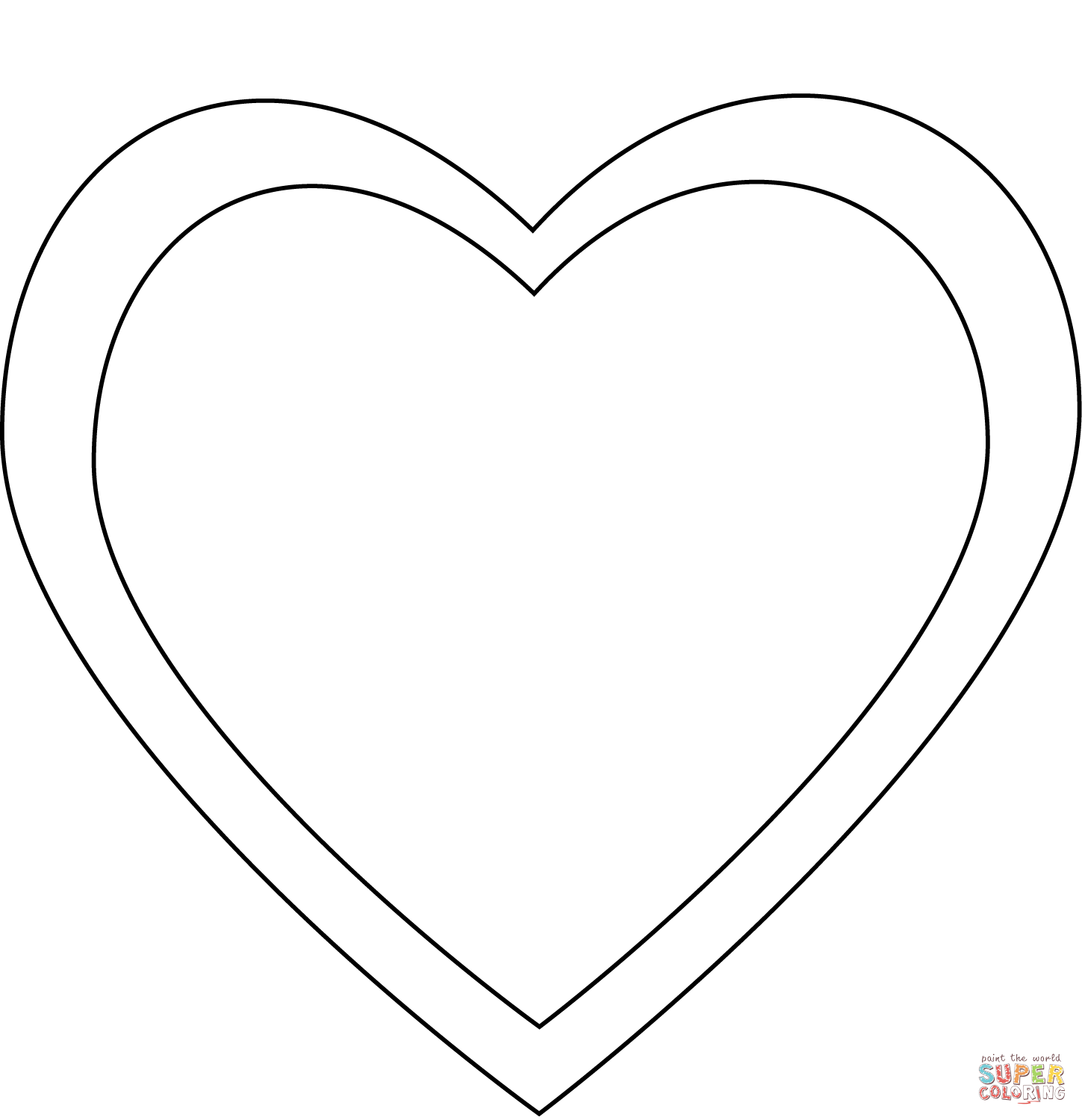 Simple Heart Coloring Page