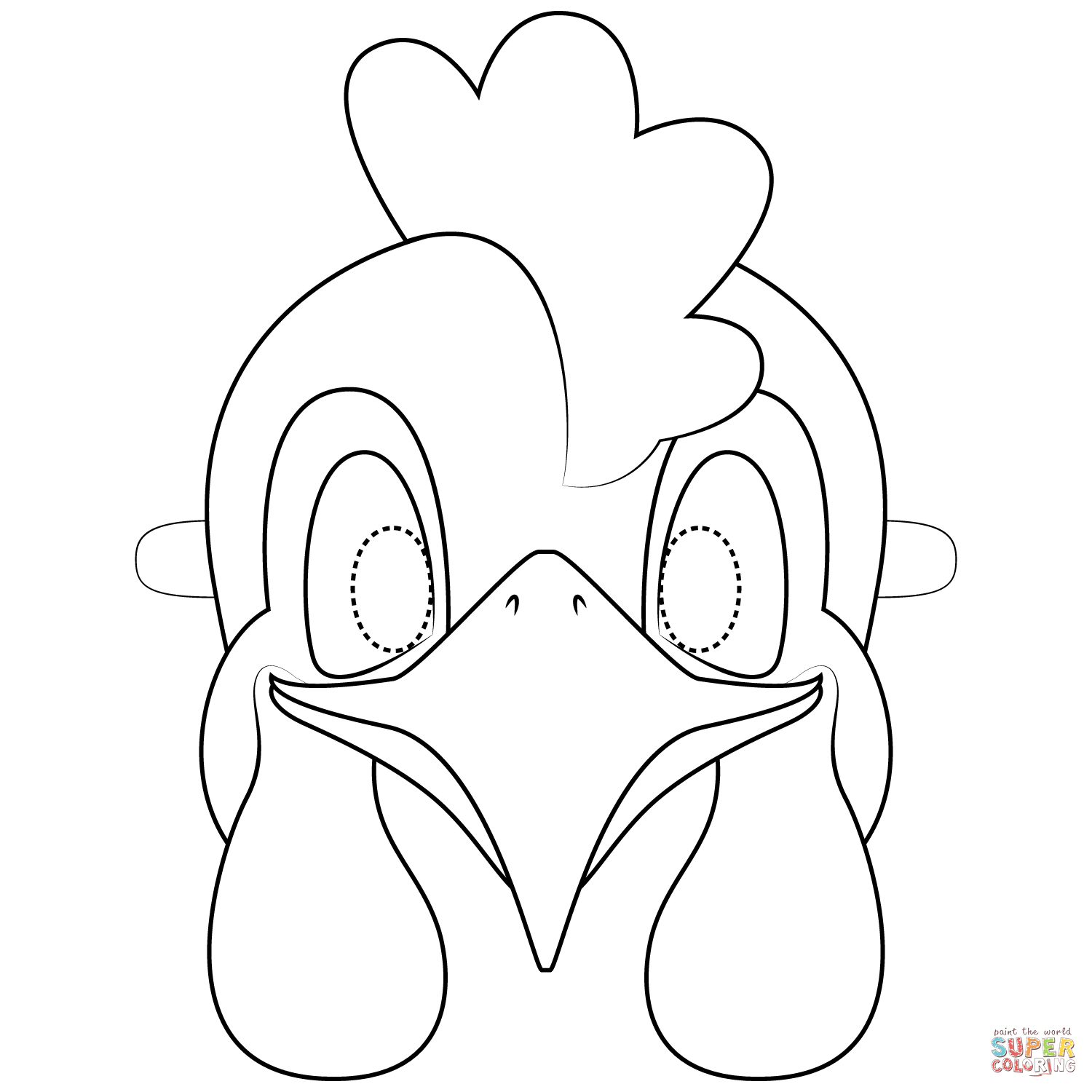 Rooster Mask Coloring Page