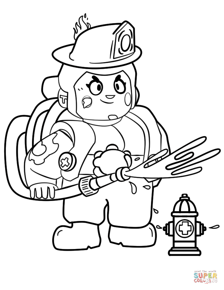 Brawl Stars Pam Coloring Page Free Printable Coloring Pages