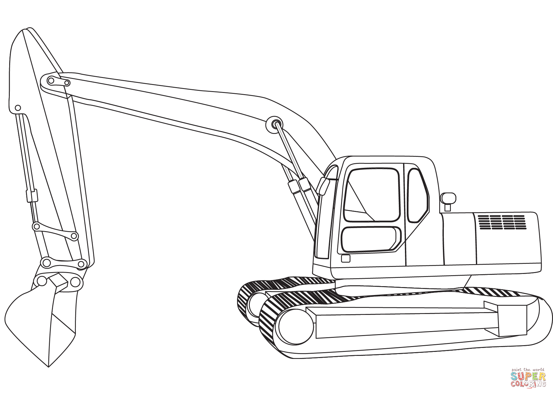 Excavator Coloring Page Free Printable Coloring Pages
