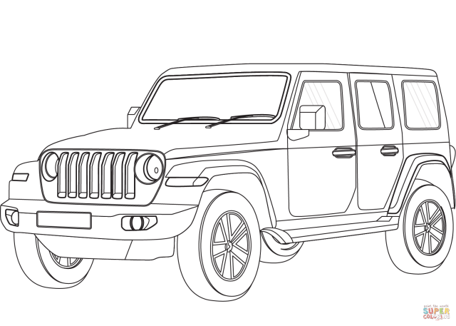 Jeep coloring page  Free Printable Coloring Pages