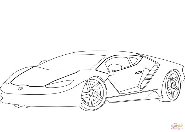Lamborghini Centenario coloring page  Free Printable Coloring Pages