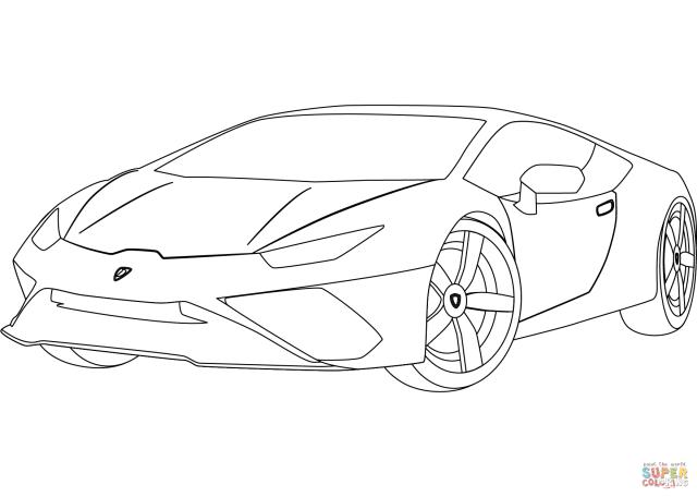 Lamborghini Huracan coloring page  Free Printable Coloring Pages