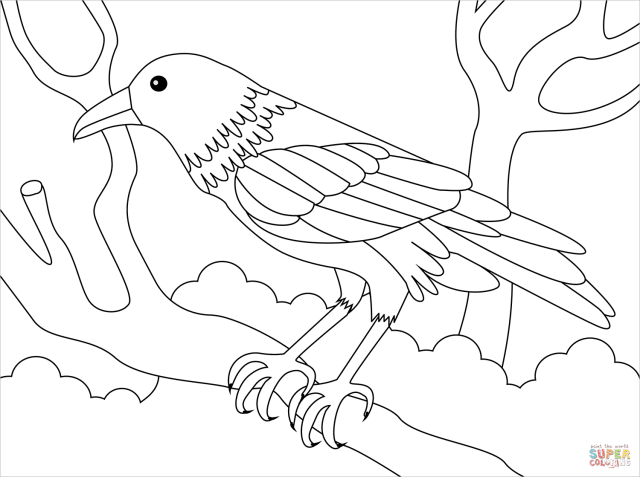 Raven coloring page  Free Printable Coloring Pages
