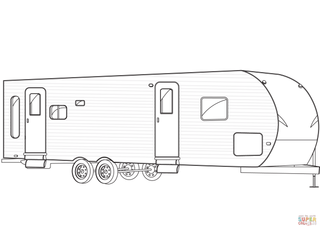 Travel Trailer coloring page  Free Printable Coloring Pages
