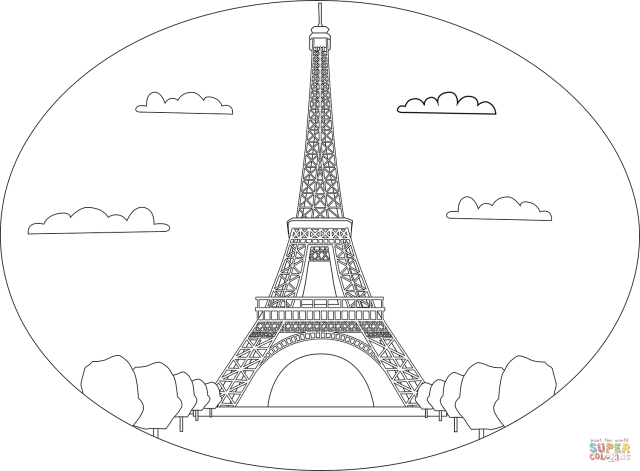 Eiffel Tower coloring page  Free Printable Coloring Pages
