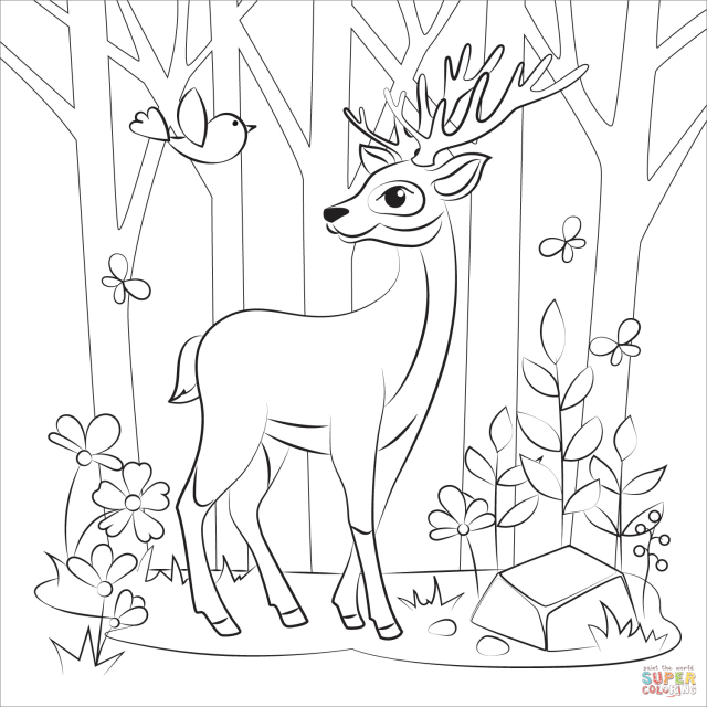 Reindeer coloring page  Free Printable Coloring Pages