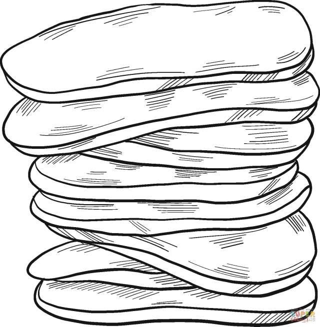 Pancakes coloring page  Free Printable Coloring Pages