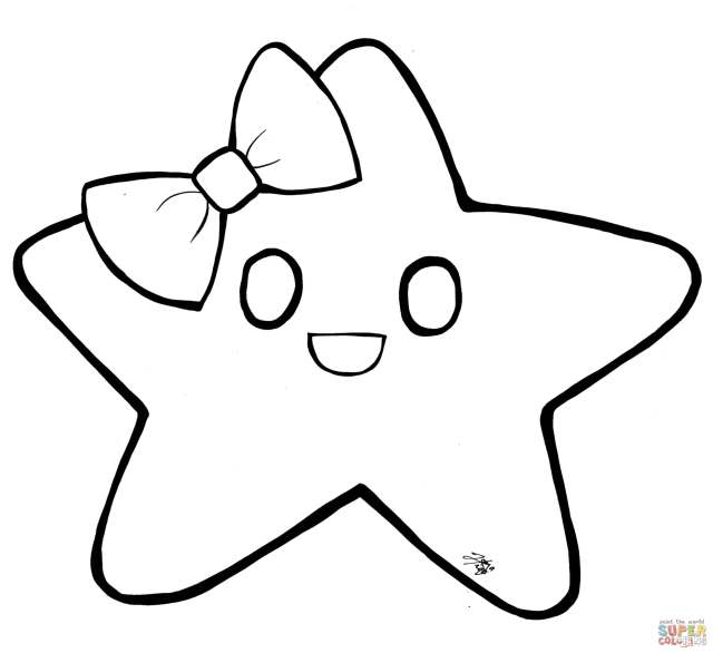 Star coloring page  Free Printable Coloring Pages