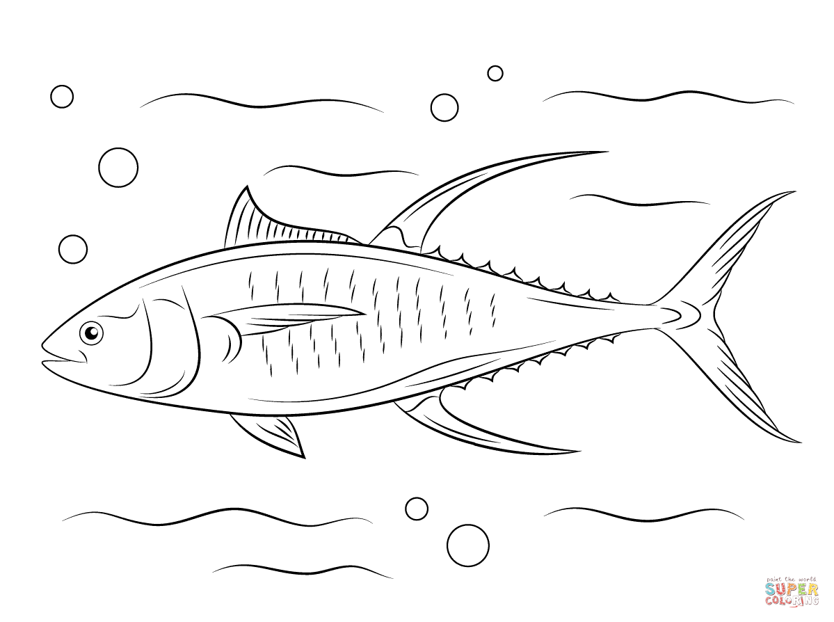 Tuna Coloring Pages Free Coloring Pages