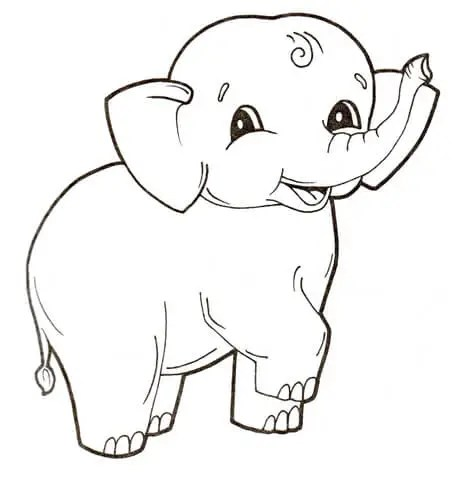 coloring pages elephant # 5