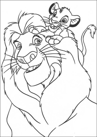 simba coloring page # 10