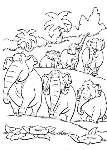 jungle coloring page # 88