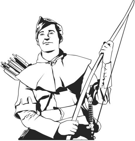 robin hood coloring pages # 20