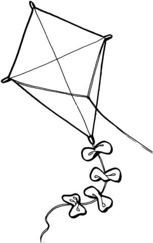 Kite Coloring Page Free Printable Coloring Pages