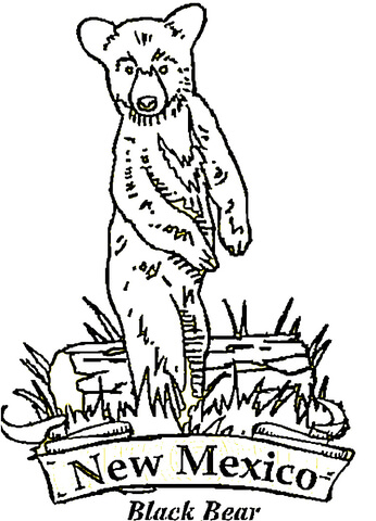 New Mexico Bear Coloring Page Free Printable Coloring Pages