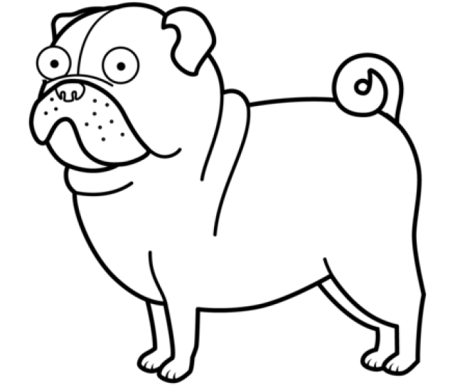 Pug Dog Coloring Page Free Printable Coloring Pages