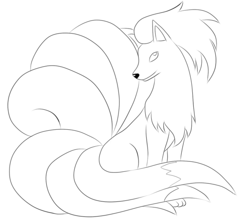 Ninetales Coloring Page Free Printable Coloring Pages