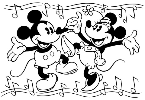 minnie mouse printable coloring pages # 26