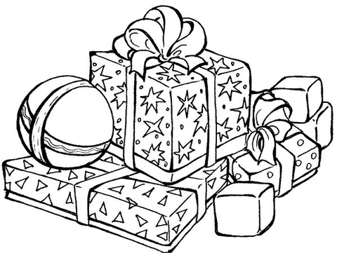 christmas present coloring pages # 4