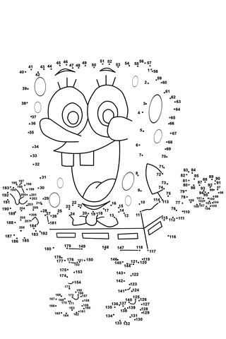 Spongebob Dot To Dot Free Printable Coloring Pages