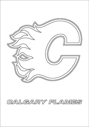 Calgary Flames Logo Coloring Page Free Printable