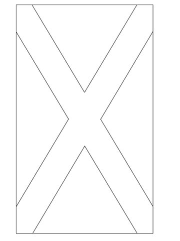 Flag Of Scotland Coloring Page Free Printable Coloring Pages
