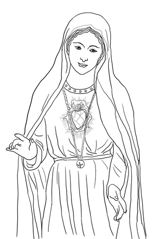 mary coloring pages # 6
