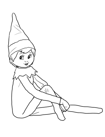 Elf On The Shelf Coloring Page Free Printable Coloring Pages