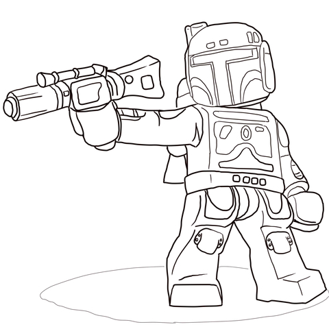 boba fett coloring page # 13