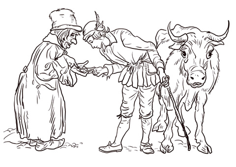 jack and the beanstalk coloring pages # 5