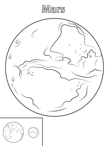 Ausmalbild: Der Mars | Ausmalbilder kostenlos zum ausdrucken
