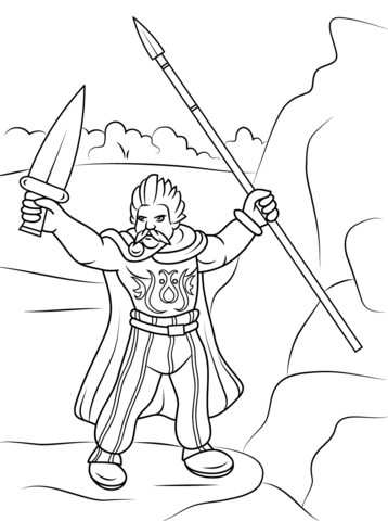 Celtic Warrior Coloring Page Free Printable Coloring Pages