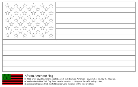 African America Flag Coloring Page Free Printable Coloring Pages